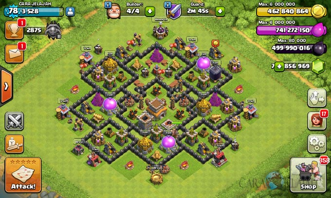 Susunan Formasi Base War TH 8 Update Terbaru 26
