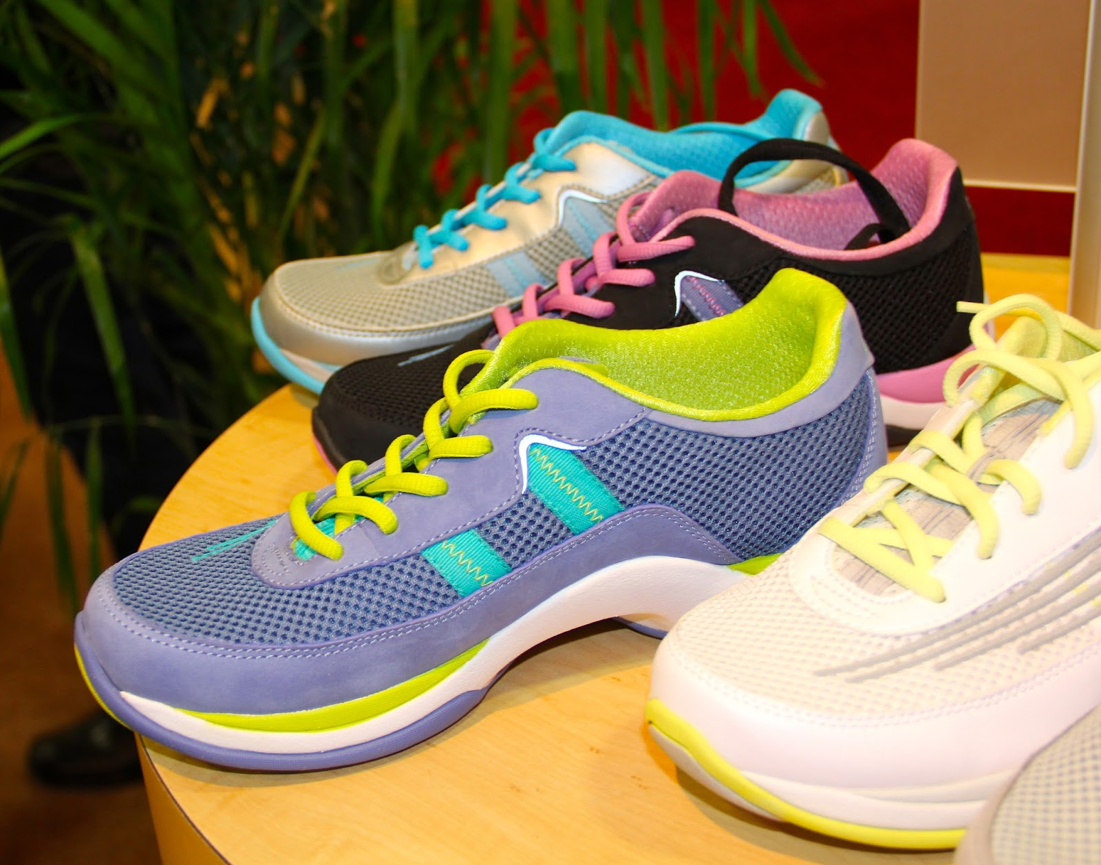 805f0273a8 The color options-blue nubuck w/lime green, black nubuck w/ pink-in  particular ---will have ladies keeping these walking shoes on all day.  sizes 36-43