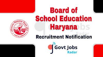 BSEH Recruitment notification 2019, govt jobs in haryana, govt jobs for teaching, govt jobs for engineers