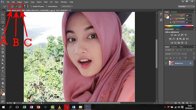 Cara singkat memotong gambar di adobe photoshop cs6: Memotong gambar dengan quick selection tool ...