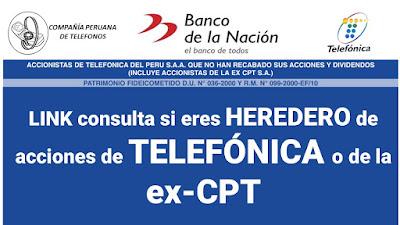 LINK consulta si eres HEREDERO de acciones de TELEFÓNICA o de la ex-CPT