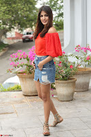 Rhea Chakraborty in Red Crop Top and Denim Shorts Spicy Pics ~  Exclusive 241.JPG