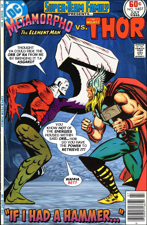 super team family the lost issues metamorpho vs thor