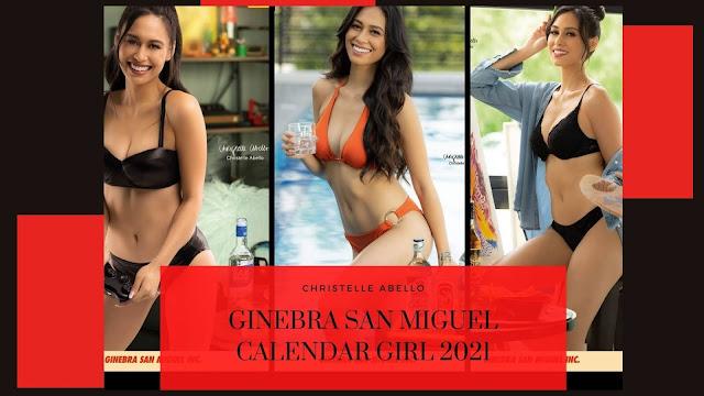 Ginebra San Miguel Calendar Girl 2021 Christelle Abello