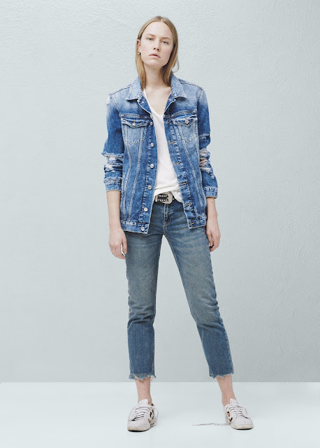 mango denim jacket, denim jacket ripped, vintage ripped denim jacket,