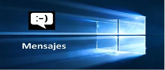 actualización mensajes de windows10