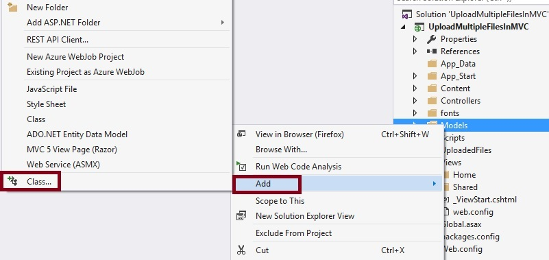 How To Upload Multiple Files In ASP NET MVC