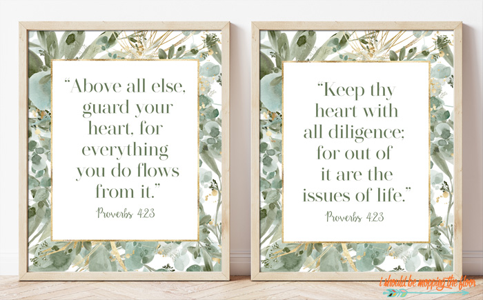 Free Proverbs 4:23 Printable