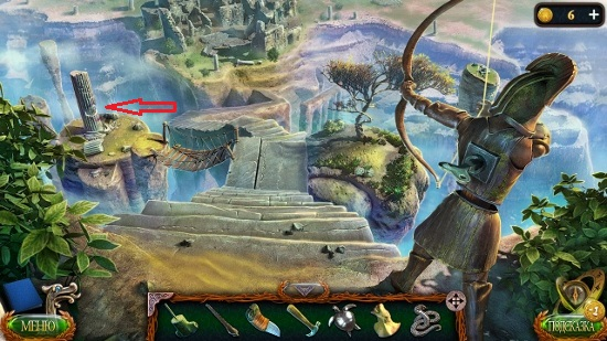 колонна в которой имеются пазы для фигурок в игре затерянные земли 4 скиталец