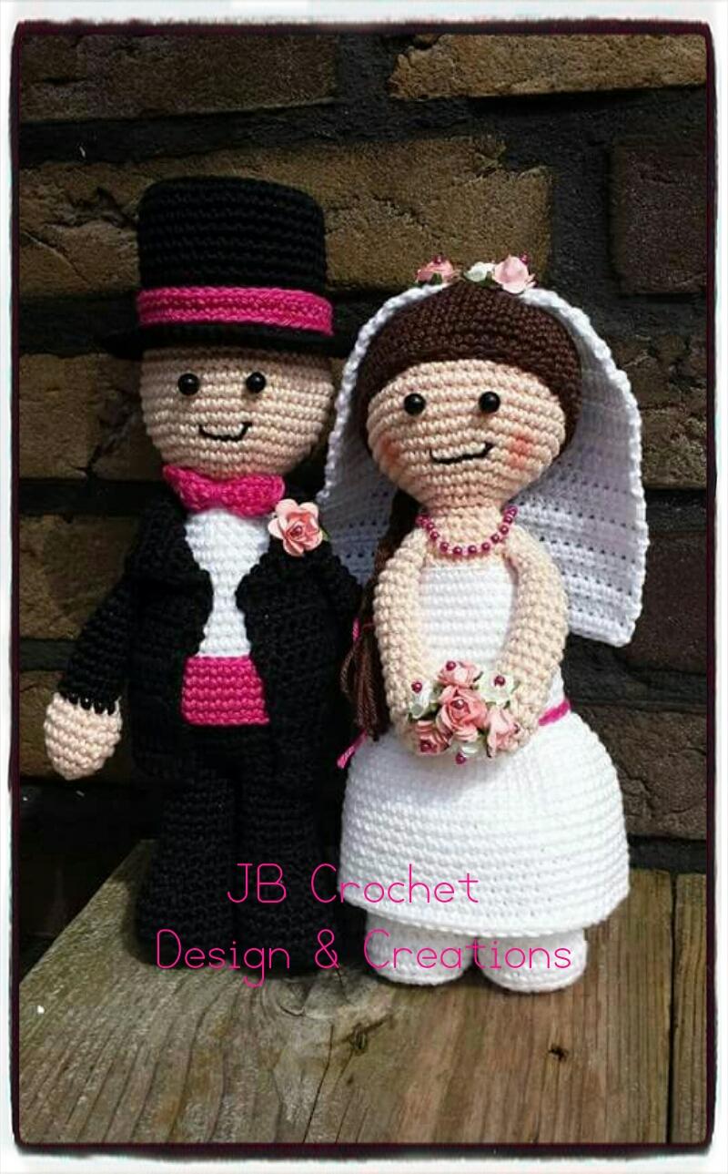 Jb Crochet Design Creations Gehaakt Bruidspaar