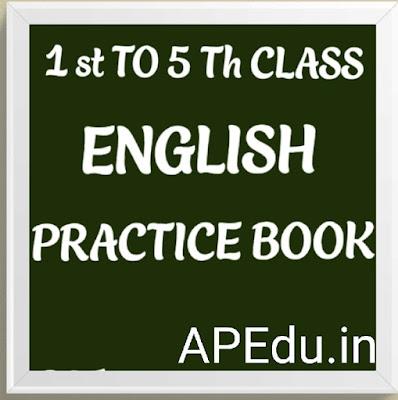 English practice workbook 1stClass to 5 th Class