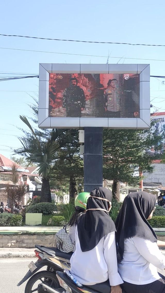 Polres Tanjung Balai Laksanakan Pemasangan Video Tron Ucapan Hari Kemerdekaan RI ke 75 dari Panglima TNI dan Kapolri