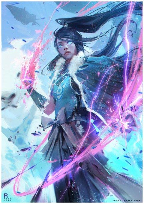 Ross Tran deviantart arte ilustrações fantasia mulheres games animes filmes