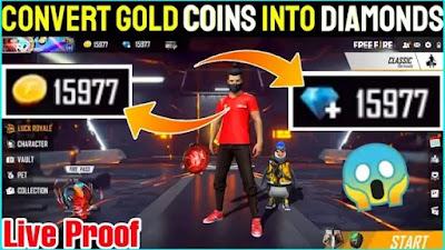 أفضل طريقة لتحويل الذهب إلى جواهر في Free Fire 2021