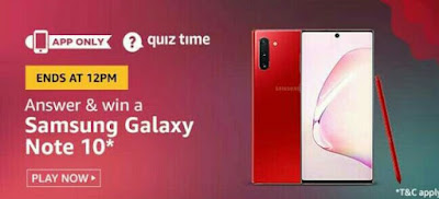 Today amazon daily quiz answers 12 august  2020