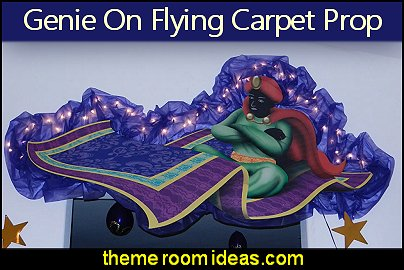 Genie On Flying Carpet  prop arabian nights party aladdin genie jasmine party decorations