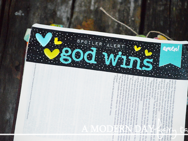 Spoiler Alert: God Wins! #BibleJournaling #IllustratedFaith