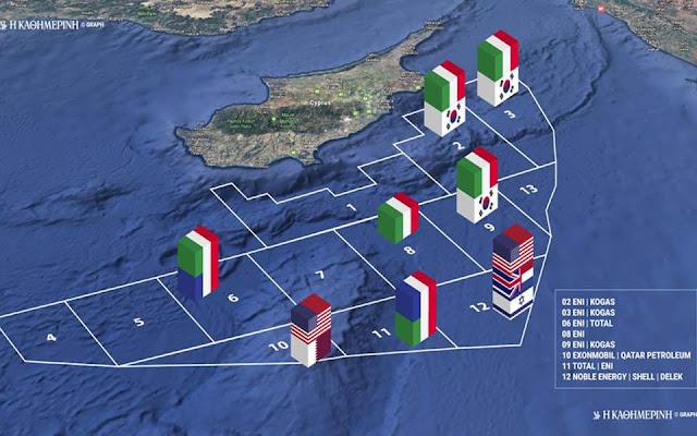 Κυπριακή ΑΟΖ: Επίσημα το τεμάχιο 7 σε Total - ENI
