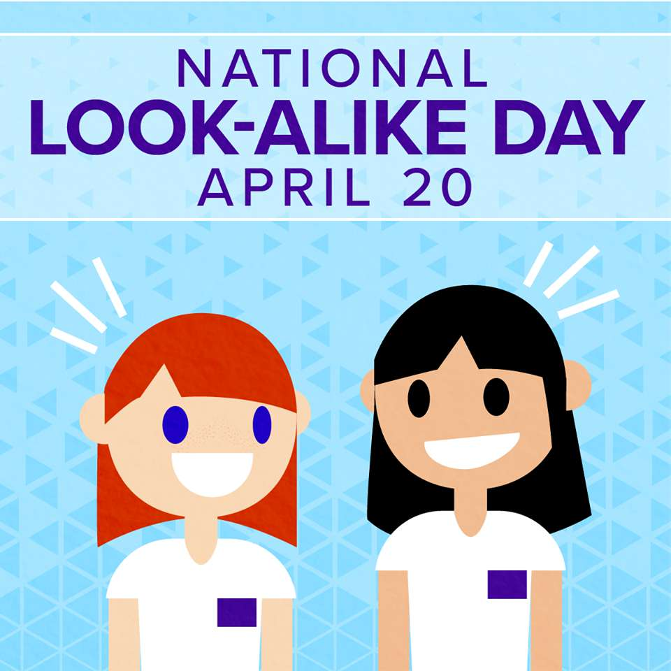 National Look-Alike Day Wishes Photos