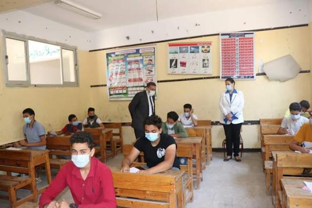 إنتظام سير إمتحانات الشهادة الإعدادية  فى يومها الرابع بمادة العلوم بالبحيرة.