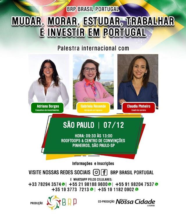 Palestra sobre Mercado de Trabalho e Empregabilidade em Portugal dia 7/Dez em SP