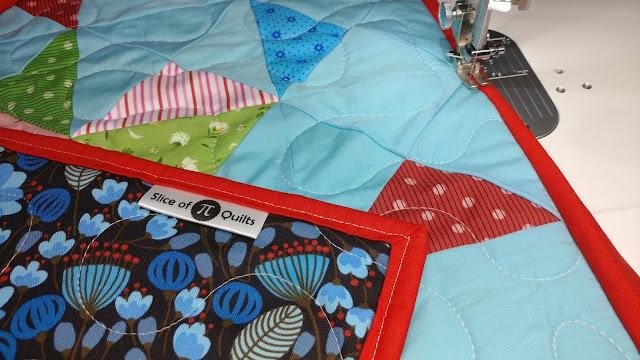 EverEmblem satin tag for a quilt label