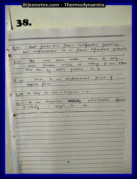 Thermodynamics Notes IITJEE 6