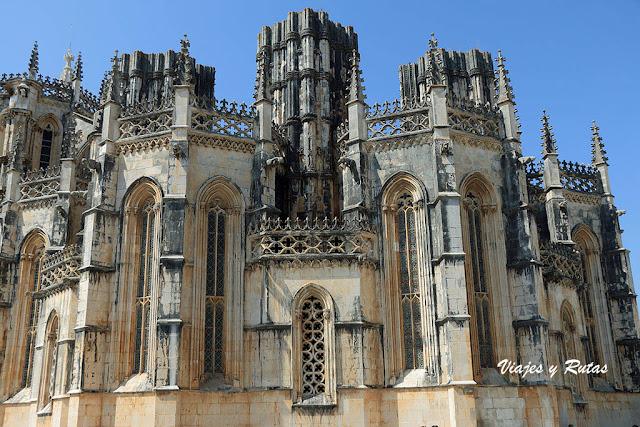 Exterior de las Capillas imperfectas del Monasterio de Batalha