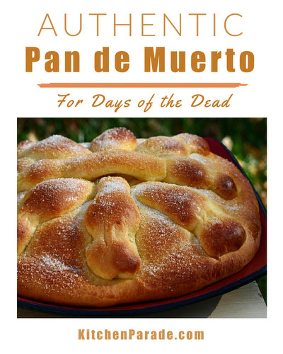 Pan de Muerto (Bread for Day of the Dead) ♥ KitchenParade.com, the traditional bread from Latin America to communicate with loved ones who have passed on. Detailed instructions for all skill levels.