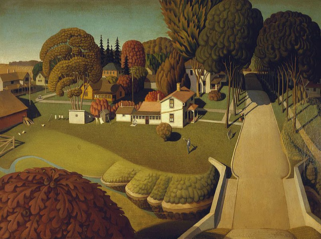 """Grant Wood """"The Birthplace of Herbert Hoover"""" (1931)"""