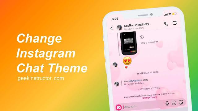 Set custom background image on Instagram chats