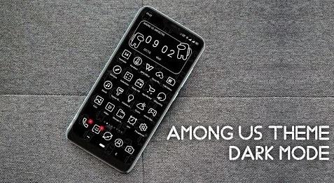 Download Tema Dark Among Us Untuk Realme UI & Oppo Color OS 5,6,&7