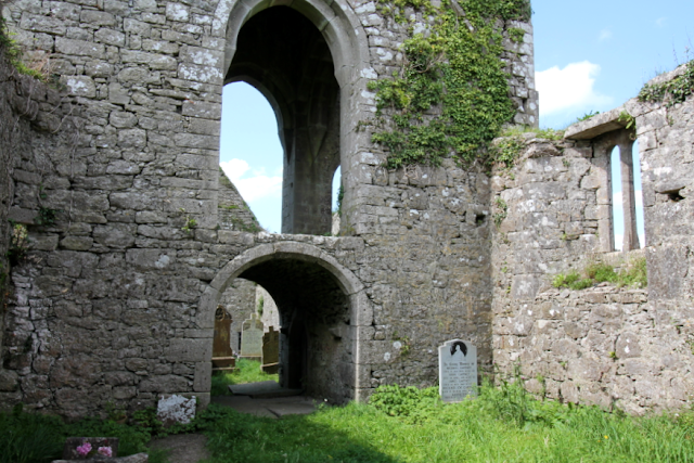 Arched doorway at Ballindoon Priory