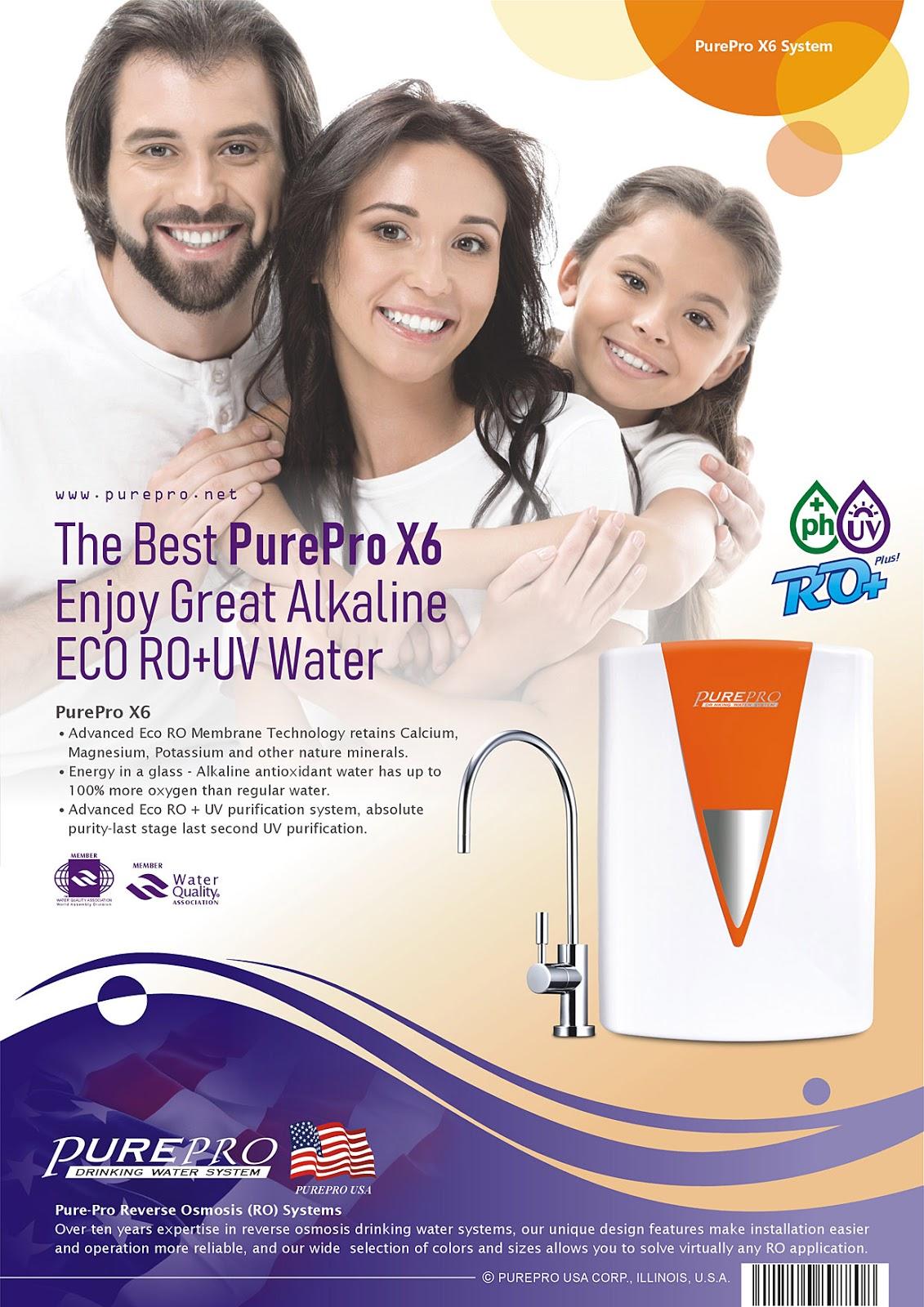 美國PurePro® X6 紫外線鹼性RO活水機 -年度最夯淨水器: 美國PurePro® X6 (愛馬仕橘)