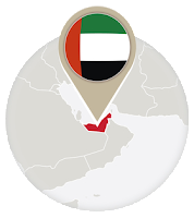 Emirati flag and map