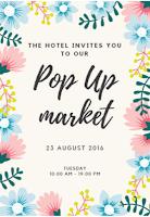 Flyer Pop Up Market en un Hotel
