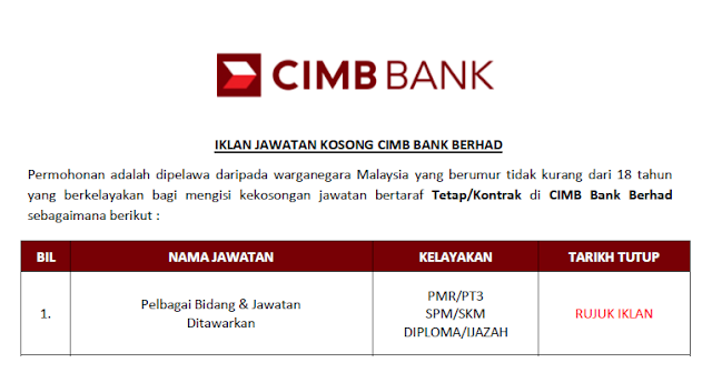 cimb bank malaysia career