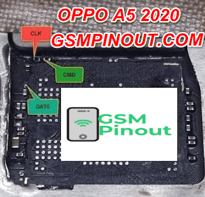 Oppo A5 2020 ISP (EMMC) Pinout