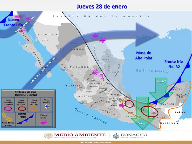 El jueves llega el frente frío: habrá mínimas de  12-14 grados en el sur yucateco