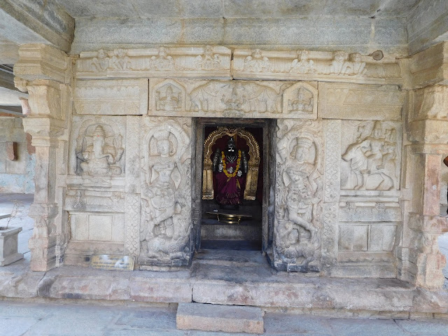 A small shrine dedicated to Goddess Parvati in the Bhoga Nandeeshwara Temple, Karnataka