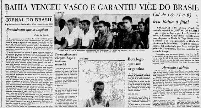 Jornal do Brasil Bahia Vasco Santos 1959