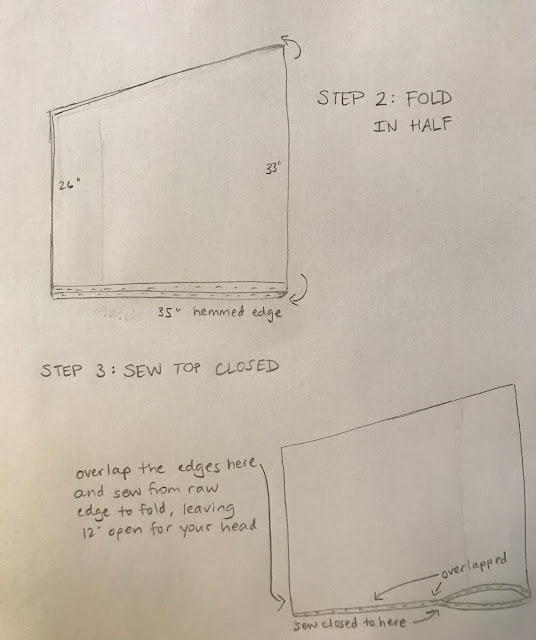 Instructions to make your own wool poncho.