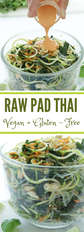 Raw Vegan Pad Thai #vegan #recipe