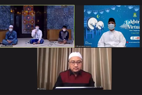 Sambut Idul Fitri 1442 H, Kota Tangerang Gelar Takbiran Virtual