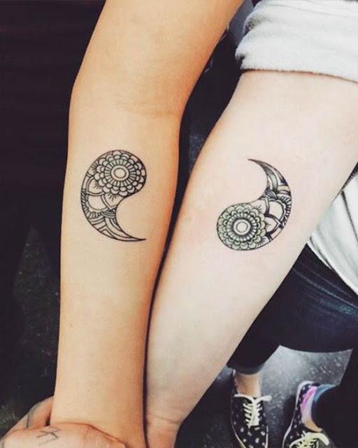 Tatuajes de madre e hija yin yang