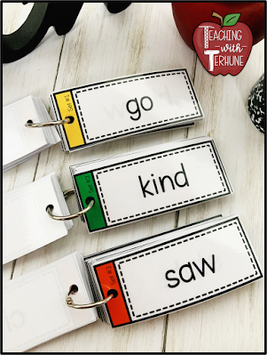 Color Coded Sight Word Flash Cards