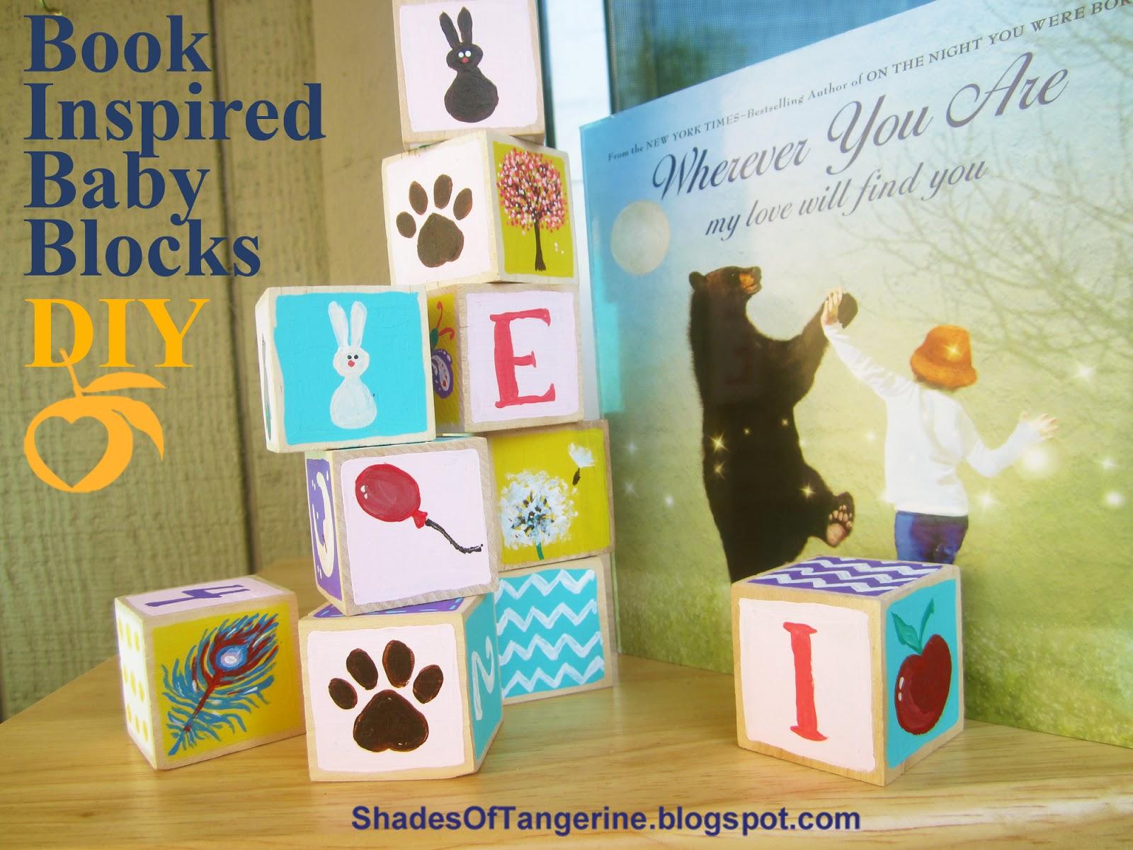 Uncategorized Diy Baby Blocks shades of tangerine book inspired baby blocks diy diy