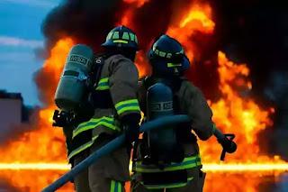 firefighter doing their job