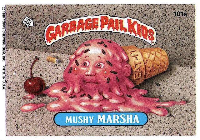 Art Spiegelman's Garbage Pail Kids 1980s, Mushy Marsha