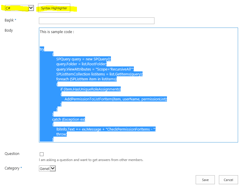 Sharepoint Code Syntax Highlighting   My Sharepoint Notebook